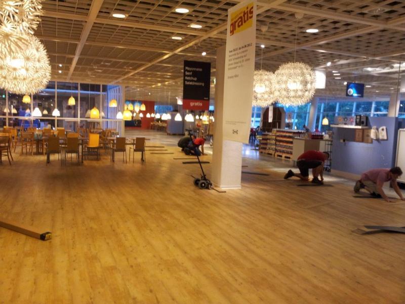 Bodenverlegung Im Restaurant Bei Ikea Spandau Otmar Stüber